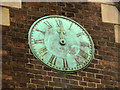 TQ2870 : St Barnabas church, Mitcham: clock face by Stephen Craven