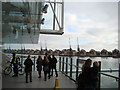 TQ4080 : View of the Royal Docks apartments from the Emirates Royal Docks cable car stop by Robert Lamb
