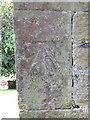 TA0073 : Bench mark on St Mary's, Foxholes by John S Turner