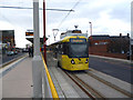 SJ9098 : Droylsden:  New Metrolink service by Dr Neil Clifton