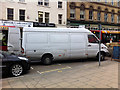 SE0925 : White van unloading on Northgate, Halifax by Phil Champion