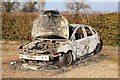 SJ3558 : Burnt Out Car at Burton Green : Week 10