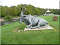 NZ2842 : Bull statue by Martin McG