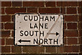 TQ4459 : Cudham street sign by Ian Capper