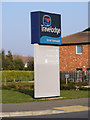 TG5101 : Travelodge Great Yarmouth sign by Adrian Cable