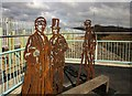 SX8671 : Metal sculptures, Town Quay Bridge by Derek Harper