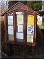TM5098 : St.John the Baptist Church Notice Board by Adrian Cable