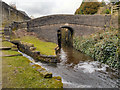 SD9803 : Huddersfield Narrow Canal, Bridge 86 by David Dixon