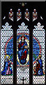 TQ2184 : St Mary, Neasden Lane, Church End - Stained glass window by John Salmon