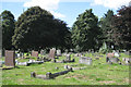 SP0892 : Mass subsidence, Witton Cemetery by Robin Stott