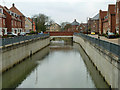 TL7525 : River Blackwater, Bocking Churchstreet by Robin Webster