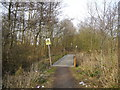 SJ9292 : Footbridge west of Woodley Recreation Ground by John Topping