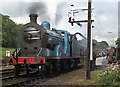 J2664 : Steam locomotive taking water at Lisburn station by TheTurfBurner