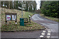 SP0511 : Road Junction, Notice Board and Signpost, Chedworth by Christine Matthews