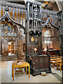 SJ8398 : The Bishop's Seat (cathedra) by David Dixon