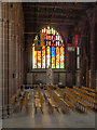 SJ8398 : North Aisle and Revelation Window, Manchester Cathedral by David Dixon
