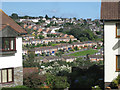 SX9274 : View between houses, Moor View Drive, Teignmouth by Robin Stott