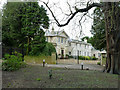 TL1395 : Alwalton Hall from the churchyard by Alan Murray-Rust