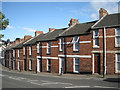 SX9373 : Stepped terraced houses, west end of Bitton Park Road, Teignmouth by Robin Stott