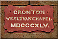 SJ4988 : Cronton Wesleyan Chapel - 1845 by David Dixon