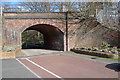 SJ8588 : Brick railway arch spanning Brook Road by Geoff Royle