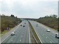 TQ4394 : M11 approaching aborted Chigwell services by Robin Webster