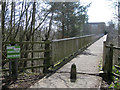 SP0366 : Musketts Way footbridge over A448, Redditch by Robin Stott