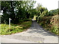 SO1021 : Lane to Berth-lwyd-fawr Farm SW of Aber Village by John Grayson