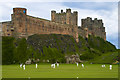 NU1835 : Fall of wicket at Bamburgh Castle by JEZ NORGAN