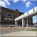 SK5438 : QMC enclosed footbridge by David Lally