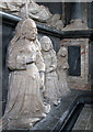 TL3966 : Longstanton: All Saints - grieving daughters on the Hatton monument by John Sutton