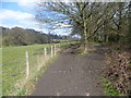 TQ4369 : Path at Hawkwood Estate by Ian Yarham