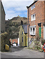 NZ7818 : Narrow street, Staithes by Pauline Eccles