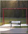 SK4833 : Swings and bench in West Park by David Lally
