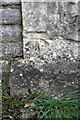 ST6276 : Benchmark on gatepost at entrance to Stoke Park Estate by Roger Templeman