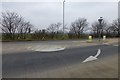 SK7955 : Mini roundabout on The Great North Road by David Lally