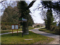 TG0905 : Low Road &amp; Carleton Forehoe Village sign by Adrian Cable