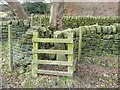 SE0621 : Stile on Elland Footpath 49 by Humphrey Bolton