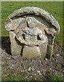 NT5014 : A symbolic gravestone at St Mary's Kirkyard, Hawick by Walter Baxter