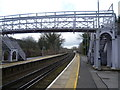 TR2843 : Footbridge at Kearsney station by Ian Yarham