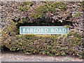 TG1309 : Barford Road sign by Adrian Cable