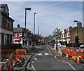 TQ2179 : Roadworks on Southfield Road by David Anstiss