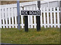 TG2704 : Fox Road sign by Adrian Cable