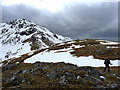 NH0123 : Between the two possible summits of Creag na Saobhie by Richard Law