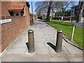 TQ2875 : Clapham, bollards by Mike Faherty
