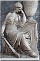 SJ7907 : St Bartholomew's church, Tong - monument to George Durant (detail) by Mike Searle