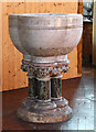 TQ2470 : St Andrew, Herbert Road - Font by John Salmon