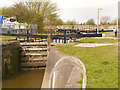 SJ5686 : Lock Access to Fiddler's Ferry Yacht Haven by David Dixon