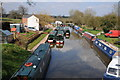 SO9970 : Narrowboats at Broad Green by Philip Halling