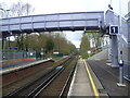 TQ7356 : The footbridge at Barming station by Ian Yarham